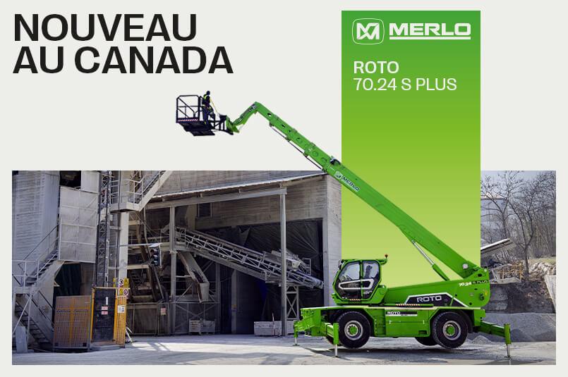 Manulift lance le nouveau modèle Merlo Roto 70.24 S Plus au Canada