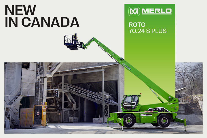 Manulift introduces New Merlo Roto 70.24 S Plus to Canadian market, offers increased power and reduced fuel costs