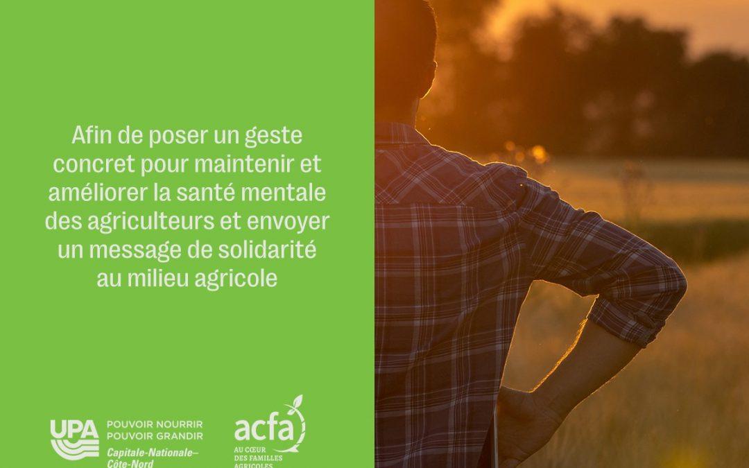Manulift s'implique pour soutenir la santé mentale des agriculteurs québécois